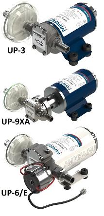 Низковольтные шестеренные насосы серии UP дизельное топливо, вода, масла