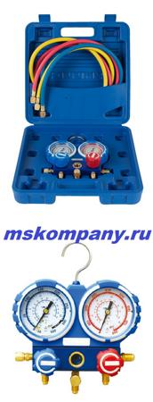 Манометрический коллектор в кейсе (со шлангами 1,5 м) VMG-2-R410A