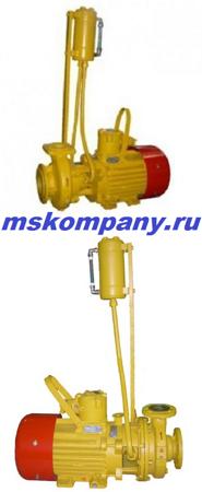 Насосы для ДТ и бензина типа КМ-Е с двойным торцевым уплотнением