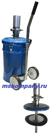 Нагнетатель смазки пневматический ТР703 с баком 25 л