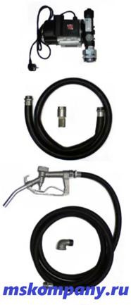 Насос для бочки ETP-60A-1 со шлангами и пистолетом дизельное топливо, жидкое масло